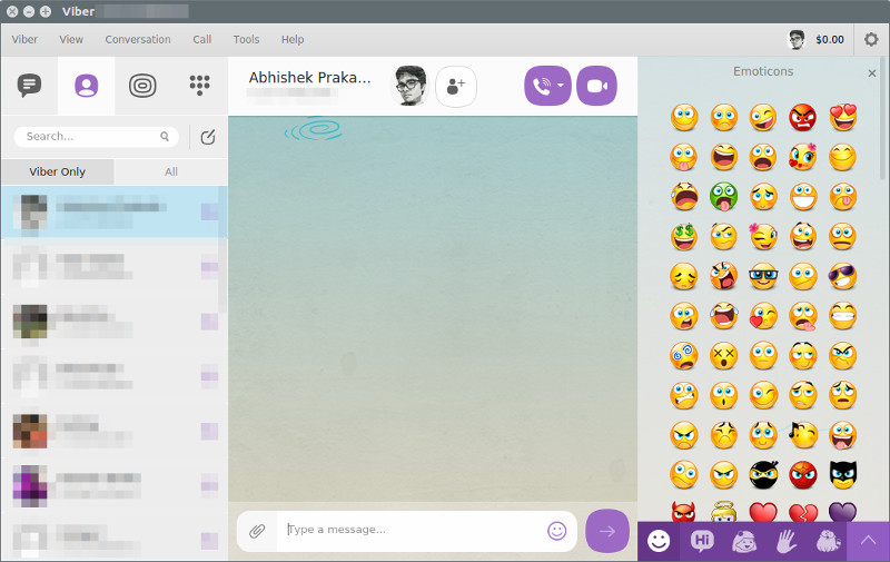Viber-interface-Ubuntu